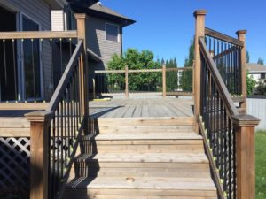 deck and fence painting in edmonton
